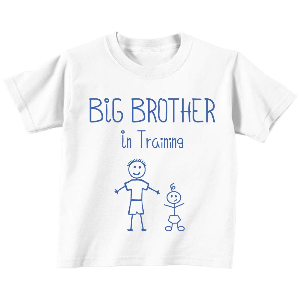 Big Brother in Training White Tshirt Baby Toddler Kids Available in Sizes from 0-6 Months to 14-15 Years New Baby Brothe