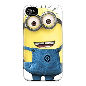 Protector Hard Cell-phone Cases For Iphone 4/4s (qdp19752ZTmU) Custom Attractive Despicable Minion Skin