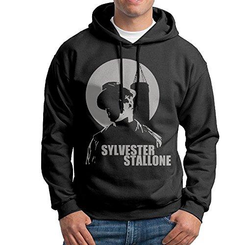 [UFBDJF20 Sylvester Stallone Men's Hooded Sweatshirt Black S] (Rambo Costume Amazon)