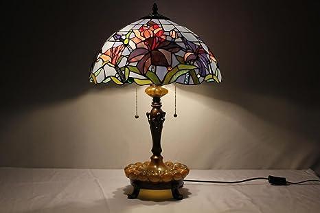 Toym uk pouces lampe tiffany de style méditerranéen bleu