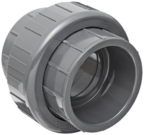 Spears 897 Series PVC Pipe Fitting, Union with EPDM O-Ring, Schedule 80, 1