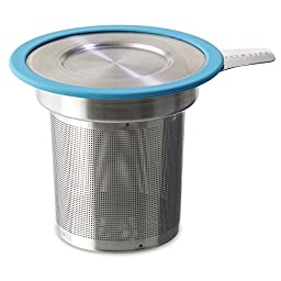 FORLIFE  Brew-in-Mug Extra-Fine Tea Infuser with Lid, Turquoise