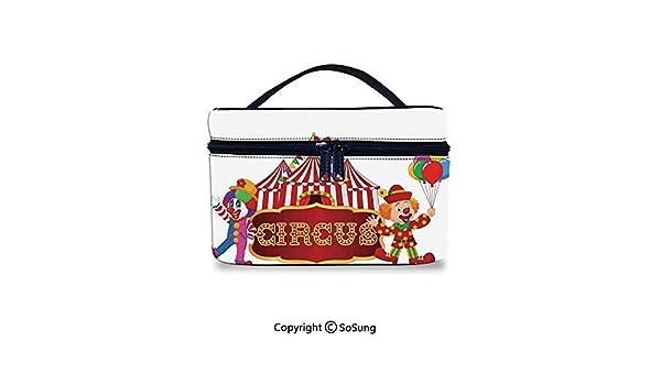 32b9142bf72e Amazon.com : Circus Decor Makeup Bags Water-resistant Circus Tent ...