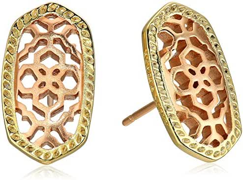 Kendra Scott Bryant Stud Earrings in Gold and Rose Gold Plated