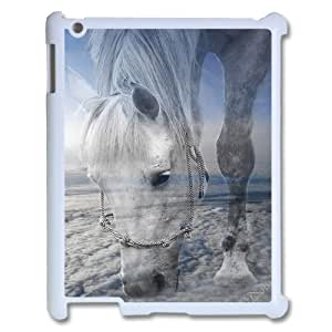 ZLGU(RM) Ipad 2,3,4 Case with White Horse DIY Case, Customized Cover Case