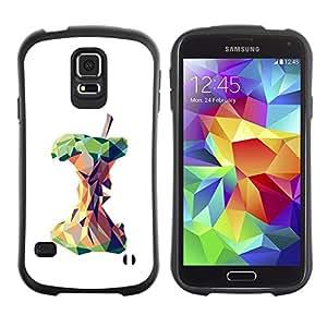 Suave TPU GEL Carcasa Funda Silicona Blando Estuche Caso de protección (para) Samsung Galaxy S5 / CECELL Phone case / / Polygon Art Deep White Meaning /