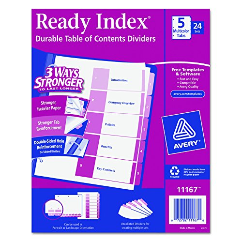 Avery Ready Contents Dividers 11167