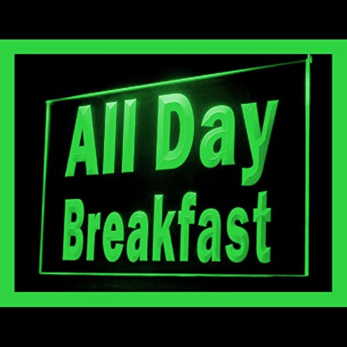 110195 All Day Breakfast Cafe Restaurant menu Display LED Light -