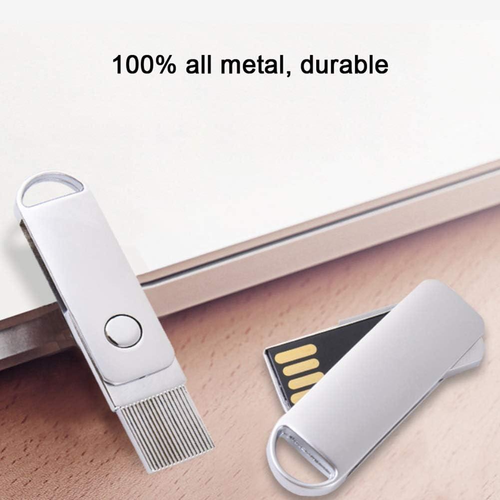 Metal Rotating Portable 4//8//16//32GB USB Flash Drive Color : 8GB 64GB//128GB Waterproof and Dustproof Shockproof Car Music USB Flash Drive ZCP USB2.0 Flash Drive