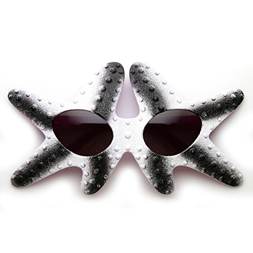 Starfish Patrick Star Under The Sea Novelty Party Costume Sunglasses (Black-White Smoke)]()