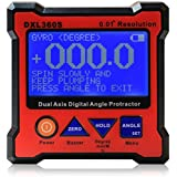 Floureon Axis Level Box Inclinometer Dual Axis Digital Angle Protractor with 5 Side Magnetic Base (DXL360S)
