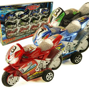 Pull Back Motorcycle Collections Toys for Kids Assorted C...