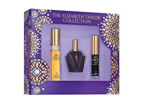 Elizabeth Taylor Fragrance Collection Eau de Toilette 3-Piece Set for Women (White Diamonds, White Diamonds Night, Passion