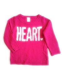 Carters Girls Heart Intarsia Pink Sweater 2T