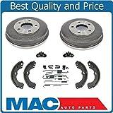 Mac Auto Parts 145593 Mariner Tribute Escape (2) 8 Brake Drum Brake Shoes Shoe Springs Wheel Cyl