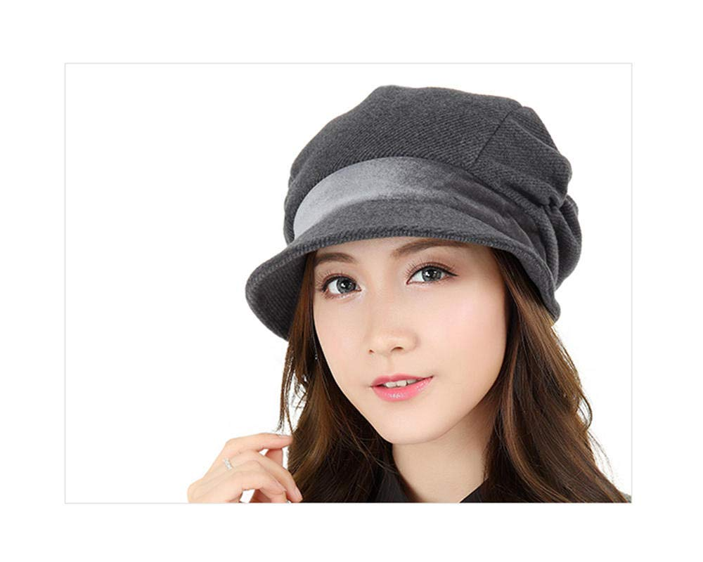 GJPSXTY Breathable and Comfortable Women's Spring and Autumn Casual Beret, M, Gray