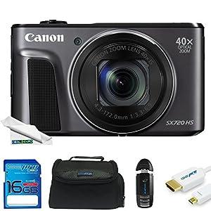 Canon PowerShot SX720 HS 20.3MP Digital Camera + Deal-Expo Essential Accessories Bundle