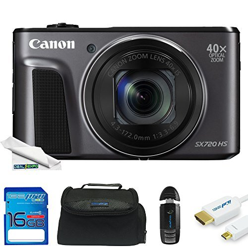 Cheap Canon PowerShot SX720 HS 20.3MP Digital Camera + Deal-Expo Essential Accessories Bundle