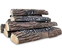 Regal Flame Set of Ceramic Wood Large Ga...