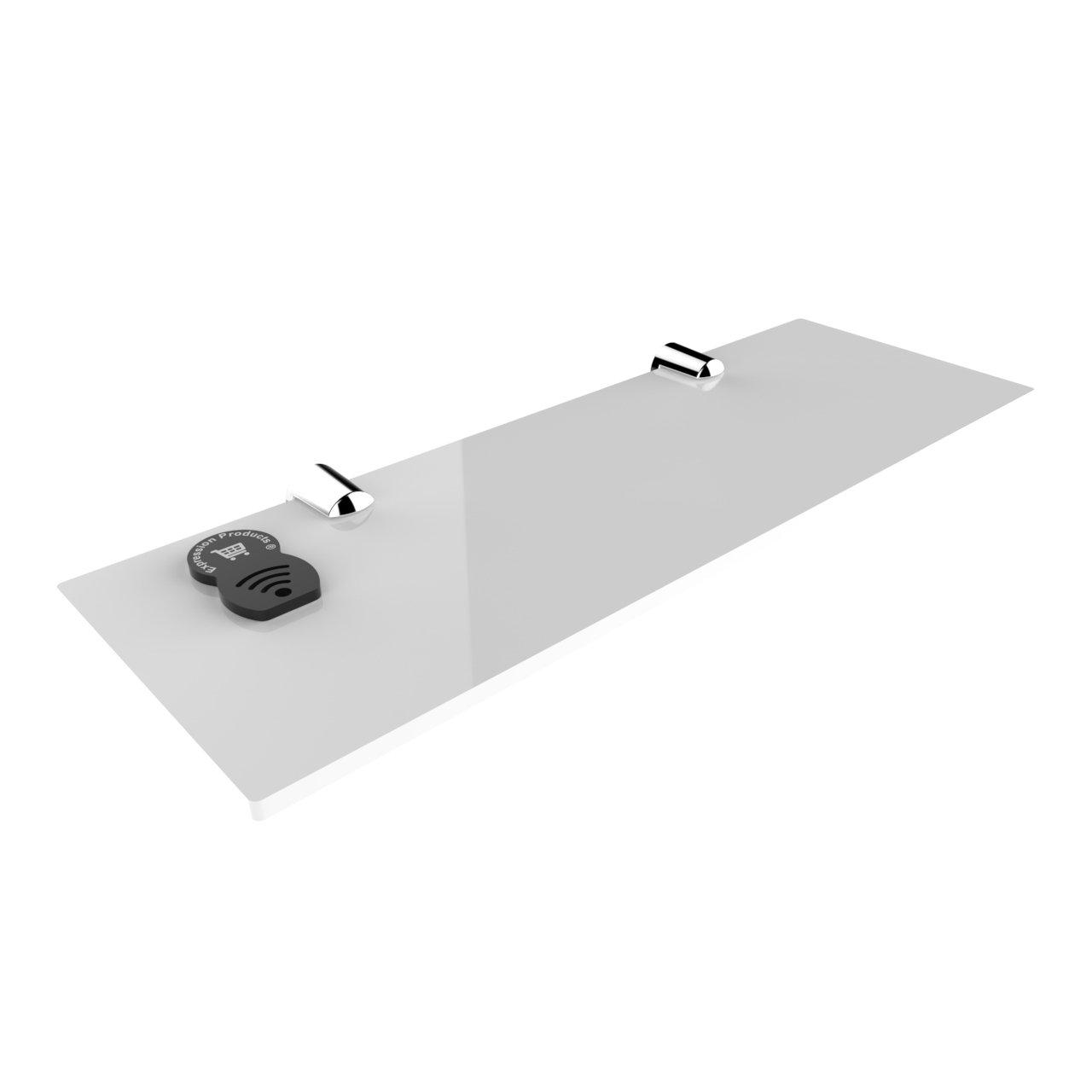 acr/ílico oficina o dormitorio Estanter/ía de pared para ba/ño fijaci/ón segura 300 x 100 mm