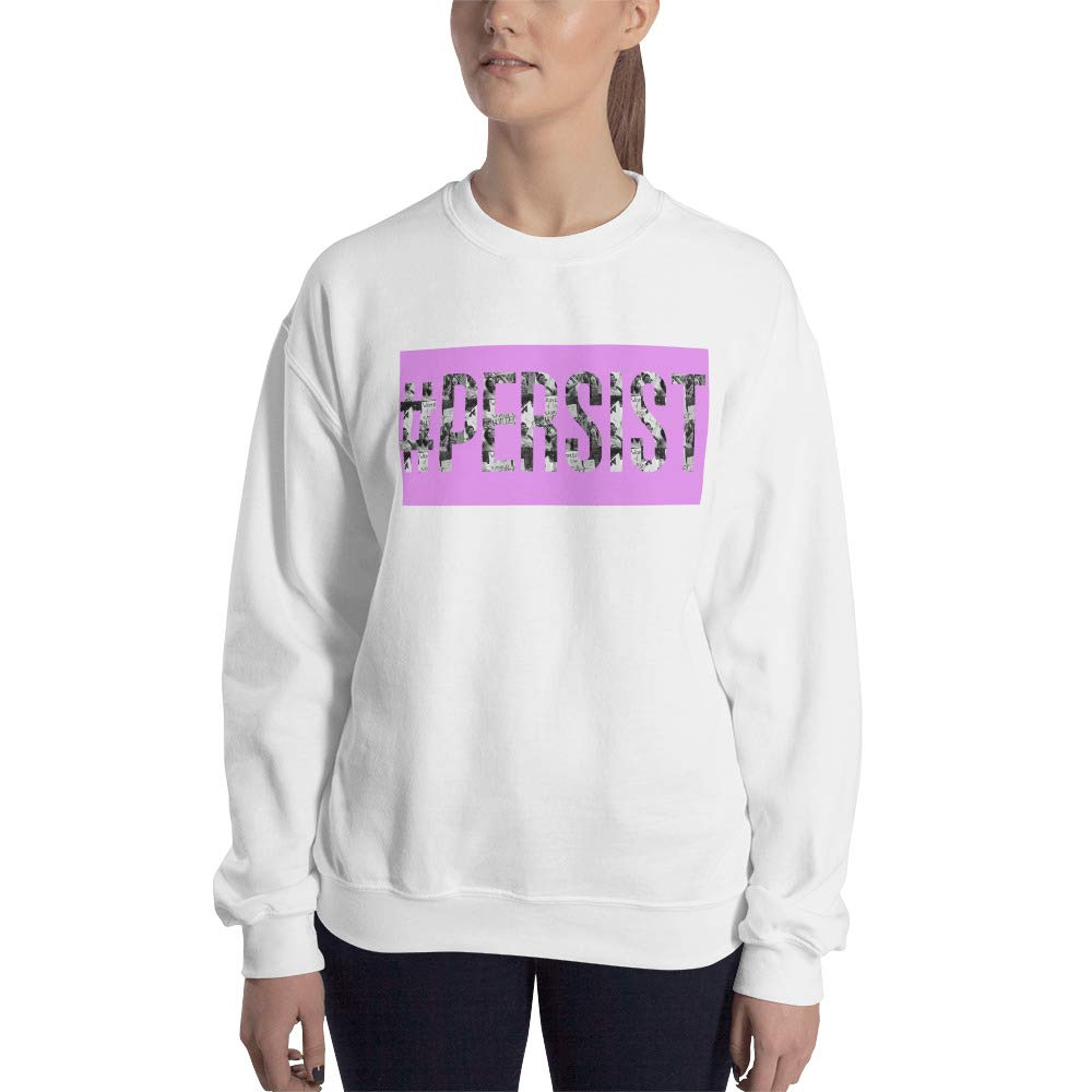 Sweatshirt White STFND #Persist Image Letters