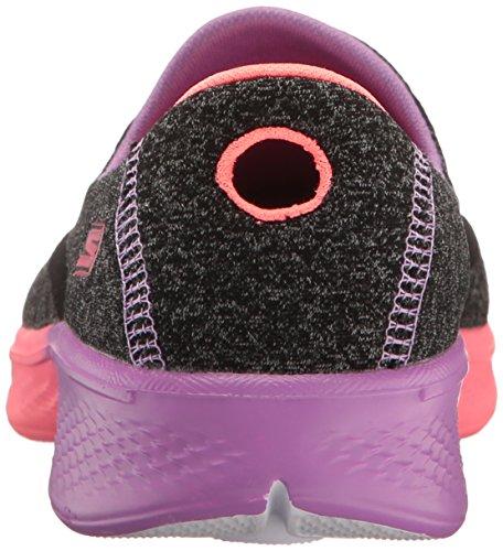 Skechers Kids Girls Go Walk 4-Awesome Ombres Loafer,Black/Multi,5.5 M US Big Kid by Skechers (Image #2)