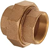 Merit Brass Brass Pipe Fitting, Class 125, Union, 3/4'' National Pipe Taper Thread Female (Pack of 25)