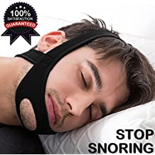 Stop Snoring Solution,Stop Snoring Chin Strap and Anti snore Devices,Adjustable Stop Snoring-Black(black)