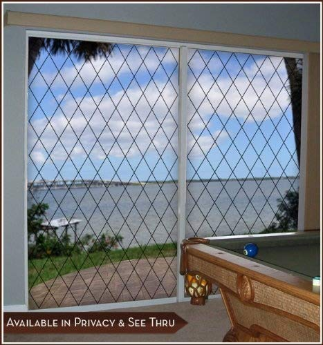 Orleans Black Leaded Glass See-Through Static Cling Window Film - 16 in x 78 in