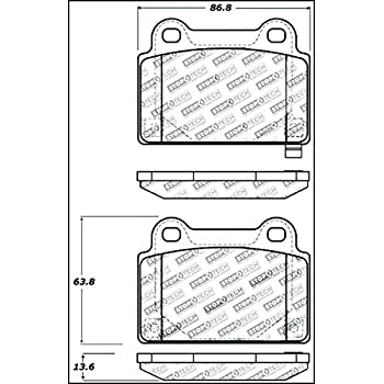 Amazon Com Stoptech 309 10010 Street Performance Front Brake Pad