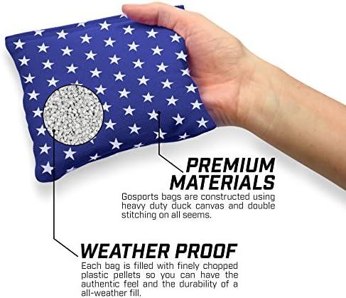 GoSports Premium All-Weather Duck Cloth Cornhole Bean Bag Set (Includes Tote Bag) 2