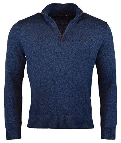 Polo Ralph Lauren Men's Half-Zip Mockneck Sweater, L, Blue