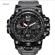 SMAEL Men's Sport Watch Sports Watch 50M Waterproof Watches for Men Rubber LED Wrist Watch Shock Resistant Casual Wrist Quartz Watches