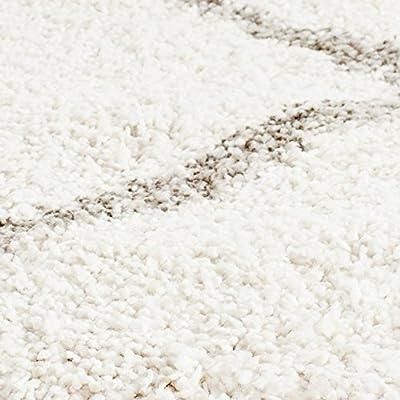 Safavieh Hudson Shag Collection SGH281A Ivory and Grey Area Rug
