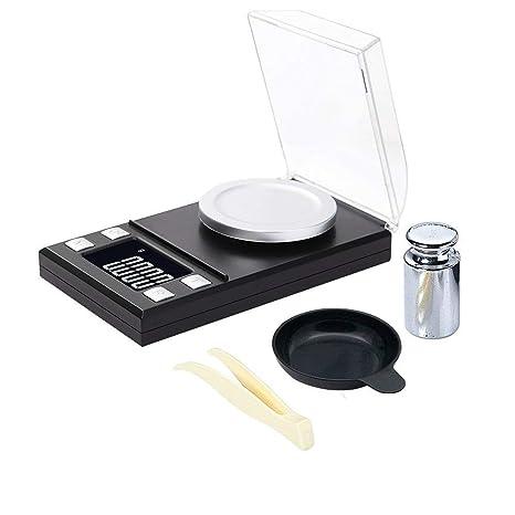 KEISL Escala de joyería,Báscula para joyería Mini Escala electrónica de Alta precisión 50 g