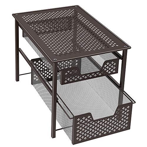 NEX 2 Tier Sliding Basket Cabinet Organizer Stackable ()