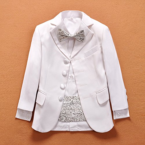 Meisa City Boy White Flat Collar Suit,Simple and Elegant,Performance Clothing,Hosting Clothes