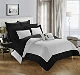 Chic Home Peninsula 7 Piece Reversible Comforter, Twin, Black