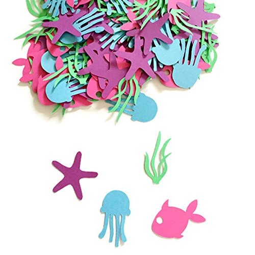 SSJSHOP Under The Sea Party Confetti - Under The Sea Party Decorations - Mermaid Party Decorations - Mermaid Birthday Party - Under The Sea (Party City Under The Sea)