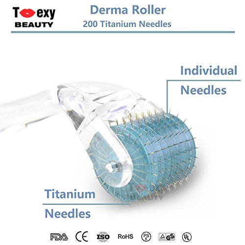 0.5 Mm Roller Tip - 0.5mm, Micro Needles Derma Roller 200 Titanium Tips for Skin Care Beauty Tool, Anti Aging Wrinkles Hair Loss Acne Scars