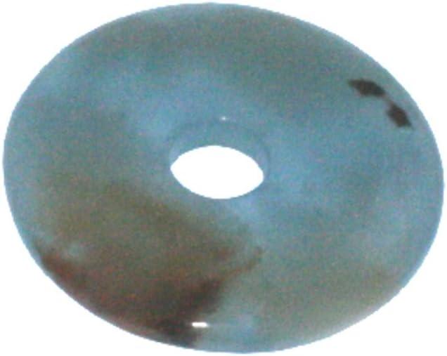 10 mm Spessore Ciambella 6 mm Juergensmineralien Aragonite Blu 1 Ciambella ca 50 mm Diametro Ciambella ca