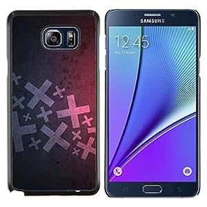 KLONGSHOP // Cubierta de piel con cierre a presión Shell trasero duro de goma Protección Caso - Resumen X - Samsung Galaxy Note 5 5th N9200 //
