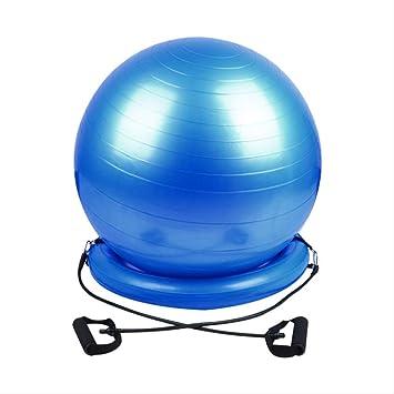 YJQ - Balón de Yoga con Base de Estabilidad, Bandas de ...