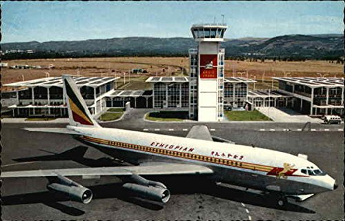 Ethiopian Airlines Boeing Fan-Jet at Addis Ababa Airport Addis Ababa, Ethiopia Original Vintage Postcard