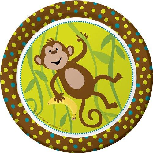 [Monkey Party Plates - 9