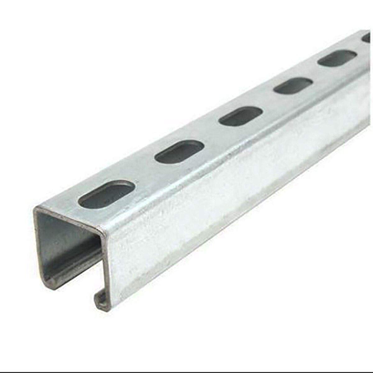 0.105 inch x 24 inches Online Metal Supply Galvanized Steel Half Slotted Strut Channel 1-5//8 x 1-5//8 x 12 ga.