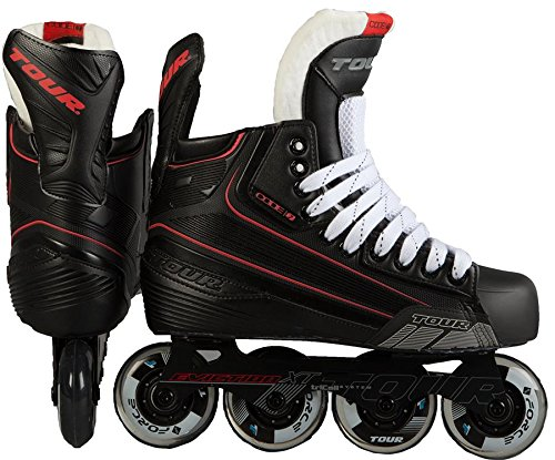 Hockey Rollerblades (TOUR Hockey CODE 7 Senior Inline Hockey Skate, Black, 10)