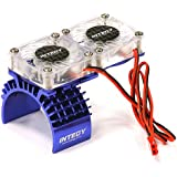 Integy RC Model Hop-ups T8534BLUE Motor Heatsink + Twin Cooling Fan for Traxxas 1/10 Slash 4X4 (6808)