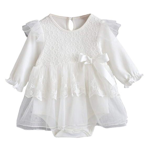 K-youth Vestidos para Niñas para Fiestas Blancos Ropa para Bebe Niña ...