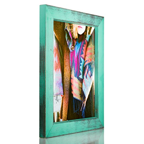 Craig Frames Gesso, Turquoise Plain Wooden Picture Frame, 18 by 24-Inch